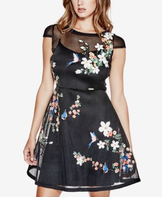 GUESS Lyana Embroidered Mesh Dress | | Special