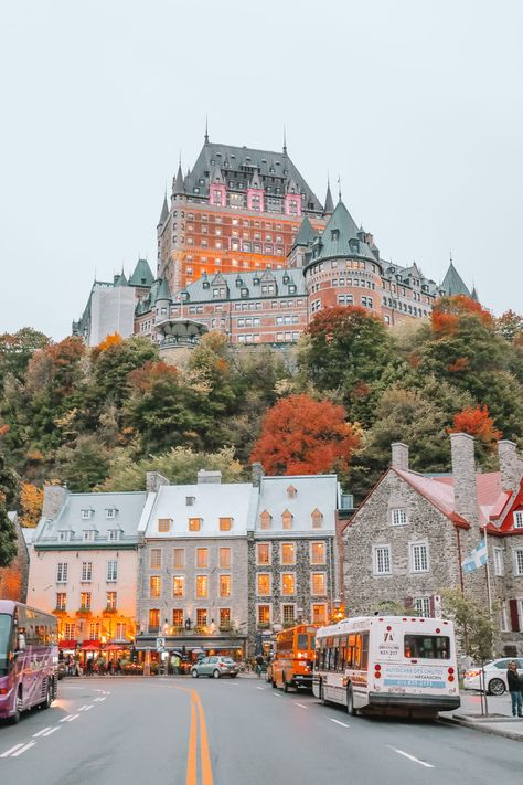 Autumn in Quebec, Canada, is unlike anywhere else! Check out this travel story to see the gorgeous Fairmont Le Chateau Frontenac and more beautiful fall photography in Quebec. Old Quebec, Quebec City, Chateau Frontenac, Le Petit Champlain, Belle Villa, Beautiful Places To Travel, Canada Travel, Backpacking Canada, Canada Cruise