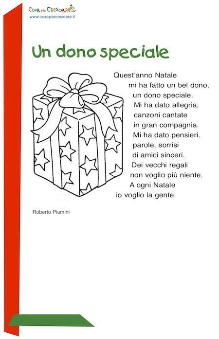 Poesie Di Natale Di Piumini.Un Dono Speciale Poesia Di Natale Per Bambini Da Stampare Natale