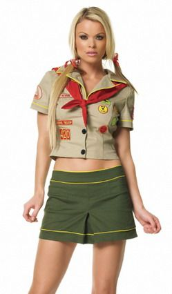 Sexy Costumes Camper Girl Costume Uniform Halloween