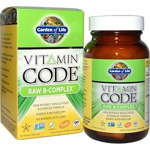 Garden Of Life كبسولات Vitamin Code بمركبات فيتامين ب الخام 60 كبسولة نباتية Iherb Com Whole Food Vitamins Vitamin Code Garden Of Life Vitamins