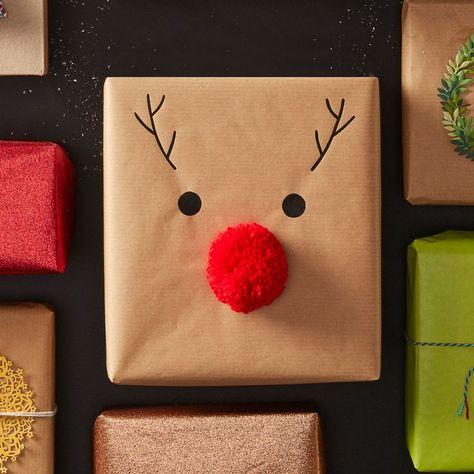 How to Make Easy Reindeer Nose Gift Wrap - Hobbycraft Blog