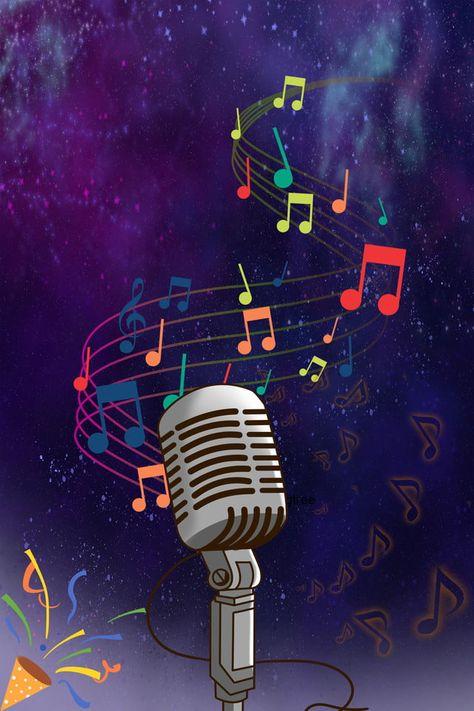 Fondo De Micrófono De Música Cultural H5