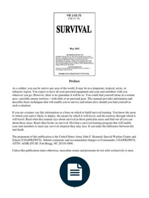 16363590 Wilderness Survival Fm 2176 Survival Survival Tips