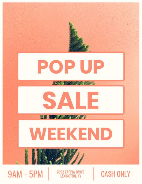 Pop Up Sale Creative Marketing Poster Idea - Venngage Poster Examples