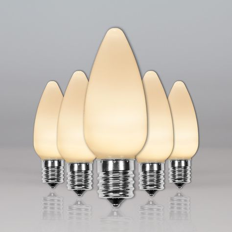 C9 Warm White Smooth Opticore Tm Led Christmas Light Bulbs