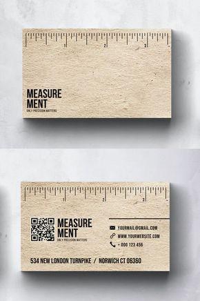 Measurement Construction Business Card Design Psd Construction Business Cards Business Card Design Construction Business