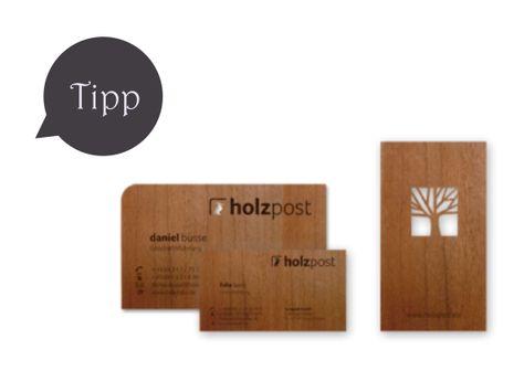 Holzvisitenkarten Von Holzpost Zum Nachbau Visitenkarten