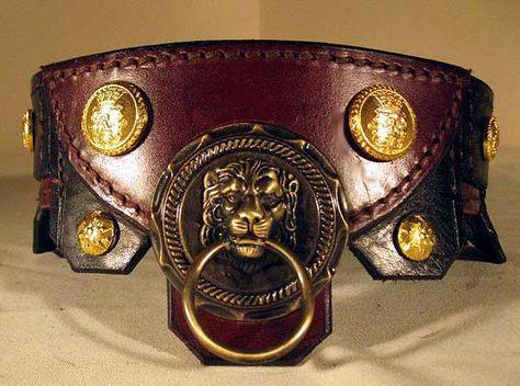 4002e2b66bc The Beautiful Trojan Collars by Oli, Handmade Latigo leather, Hand tooled  brass hardware, Saluki Station