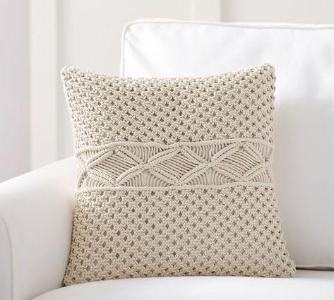 Macrame Pillow Cover | Silver pillows, Decorative pillows