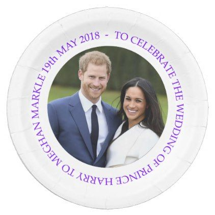 Prince Harry And Meghan Markle Wedding Paper Plate Wedding Party