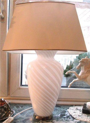 Ich Verkaufe Eine Sehr Gepflegte Grosse Tischlampe Entwurf Paolo Venini Mitte Ende Der 50er Mit Perfektem Sauberem O Lampe Tischlampen Grosse Tischlampen