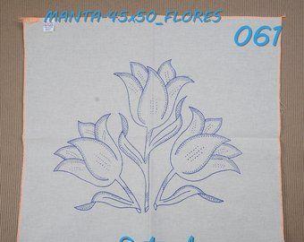 Alemanisco 45x50cm Flores Para Bordar Esquemas En Alemanisco Etsy Dibujos En Tela Patrones De Bordado Esquemas