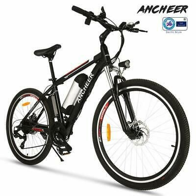 Ad Ebay Link Ancheer Electric Bike 26 E Bike Mountain Bicycle City Shimano Li Lion 21 Speed Best Electric Bikes Electric Mountain Bike Commuter Bike
