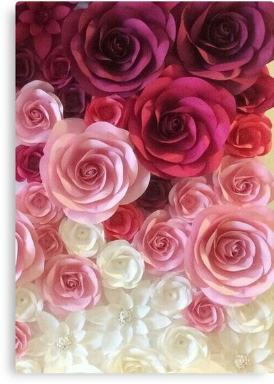Roses Canvas Print By Medly Paper Flowers Paper Flowers