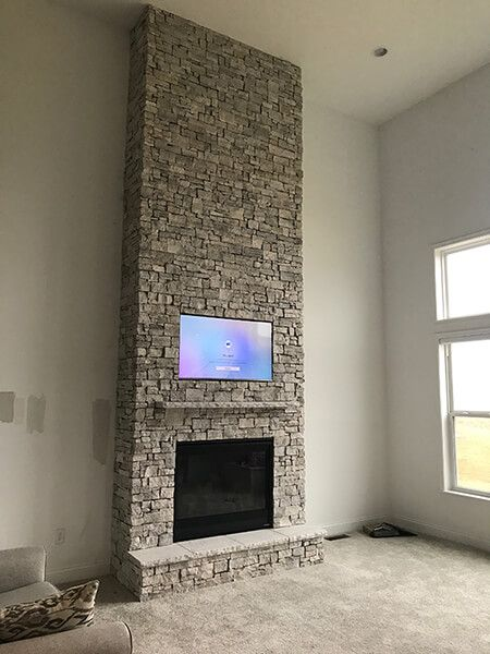 Amazing Floor To Ceiling Stone Fireplace From Dayton Fireplace