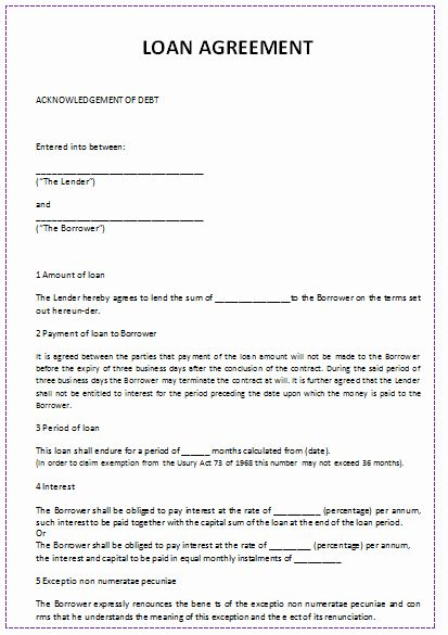 28 Personal Loan Letter Template In 2020 With Images Debt