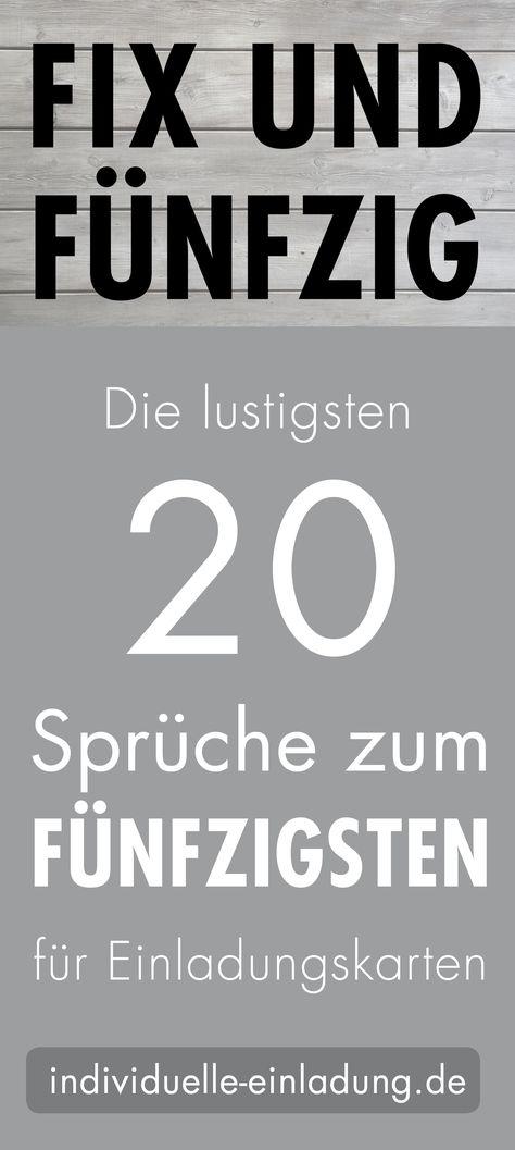 Die Lustigsten Spruche Und Zitate Zum 50 Geburtstag In 2020