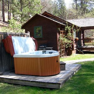 Black Hills Cabins Willow Springs Cabins Hot Tub Outdoor