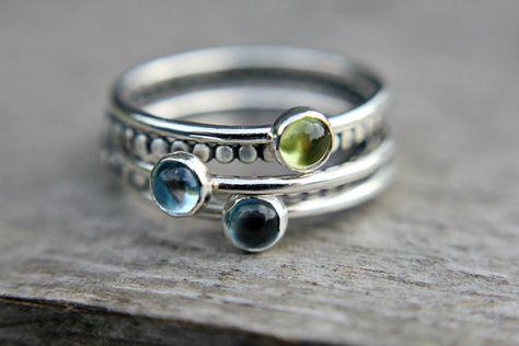 Choose your gemstone single sterling silver by UntamedMenagerie