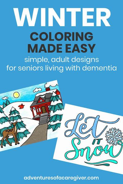 Easy Winter Coloring Pages For Seniors Living With Dementia Art Therapy Activities Dementia Activities Therapy Activities