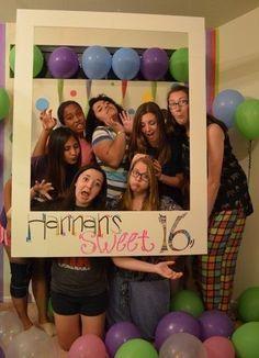 Die Polaroid Party Zum Sechzehnten Geburtstag Dort Wird