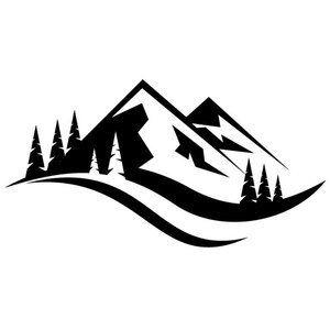 Mountain Outdoor Logo Silhouette Landscape Silhouette Outdoor Logos Logo Silhouette