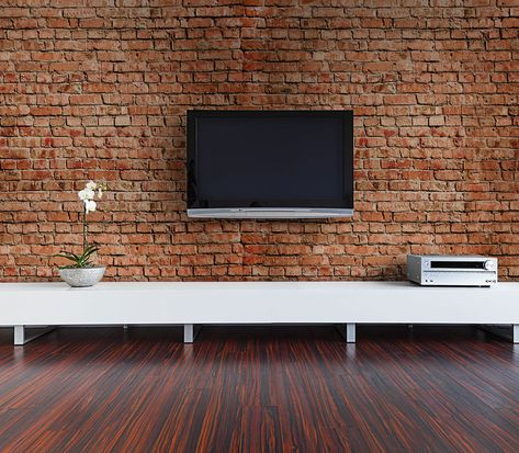 15 Exposed Brick Tv Mount Ideas Exposed Brick Brick Living Room Designs