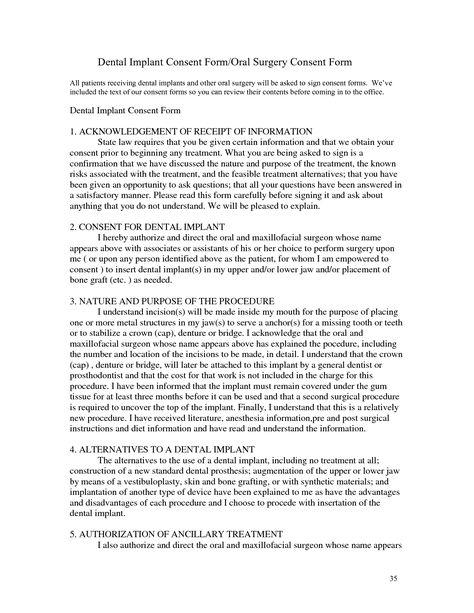 Surgery Informed Consent Form Template | Consent form | Pinterest ...