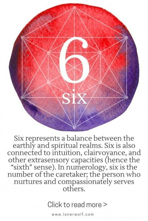 The mystical meaning of number 6: intuition, earth and spirit balance / numerology #numerology #numerologytest