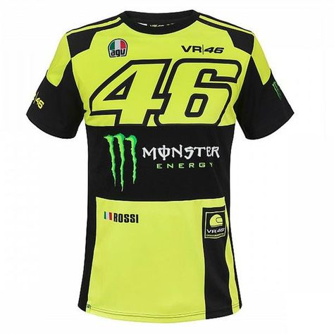 403734806 46 Valentino Rossi VR46 T-shirt Monster Energy Official MotoGP 2018 ...