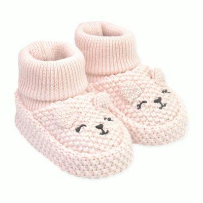 Carters Baby Soft Sole Girl Knit Bootie-Newborn Slipper