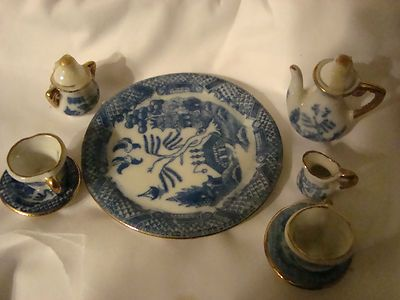 Miniature Porcelain Tea Set Limoge Blue And White | EBay | Miniature Tea  Set | Pinterest | Porcelain And Teas