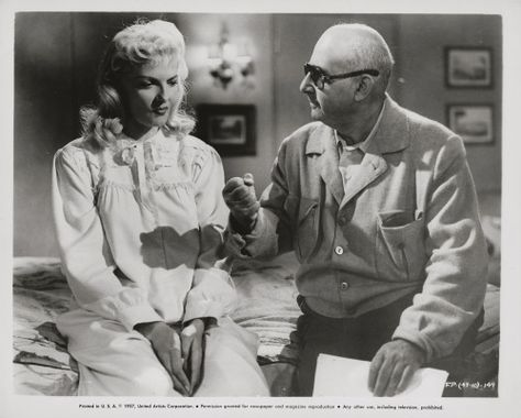 f059b512e7 Jane Russell getting direction from Norman Taurog on the set of The Fuzzy  Pink Nightgown