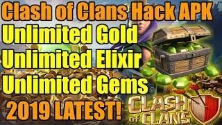 Clash Of Clans Mod Apk 2019 Coc Hack V11 651 10 Gemas Elixir
