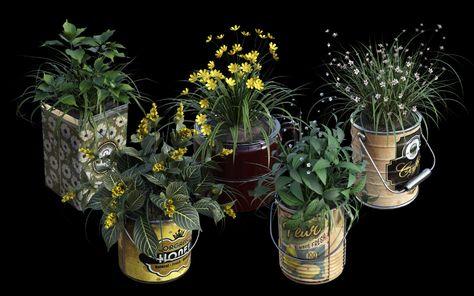 DGV Miniature Gardens Vol.2 TinCans - DAZ 3D Models - 3D CG#daz #dgv #gardens #m...#cgdaz #daz #dgv #gardens #miniature #models #tincans #vol2