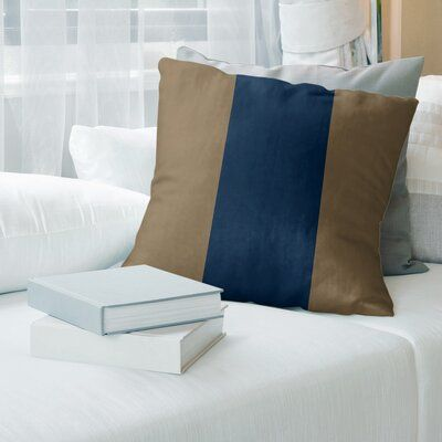 East Urban Home La Horns Football Euro Pillow Cover Colour Gold Blue Cover Material Spun Polyester Euro Pillow Covers Pillows Pillow Covers