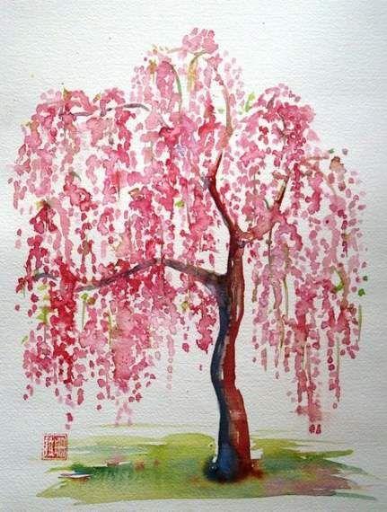 Pin By Reynold Stark On Tree Willow Tree Tattoos Tree Drawing Tree Painting