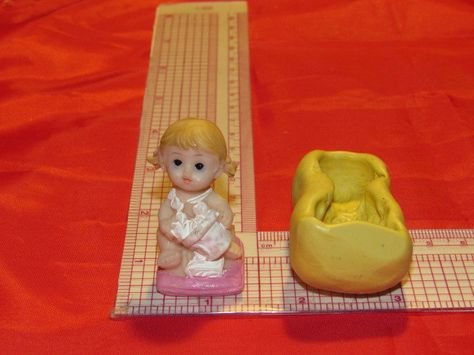 Baby Feet Silicone Mold Resin #655 Scrapbooking Baby Shower Soap fondant Fimo