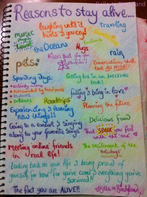 Reasons to live list Bella In Bindyland
