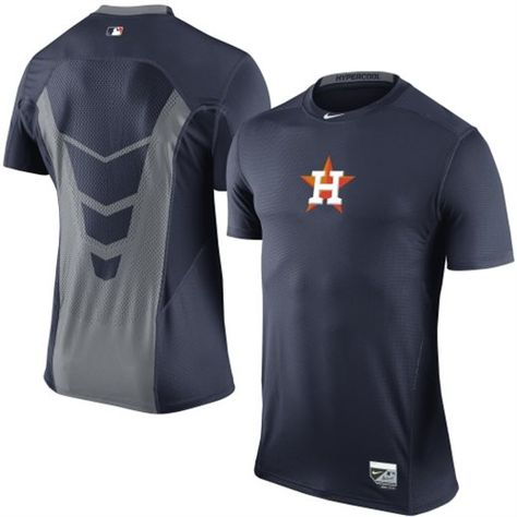 premium selection 50434 82d23 Nike Houston Astros Navy Blue Hypercool Performance T-Shirt  astros  mlb   houston