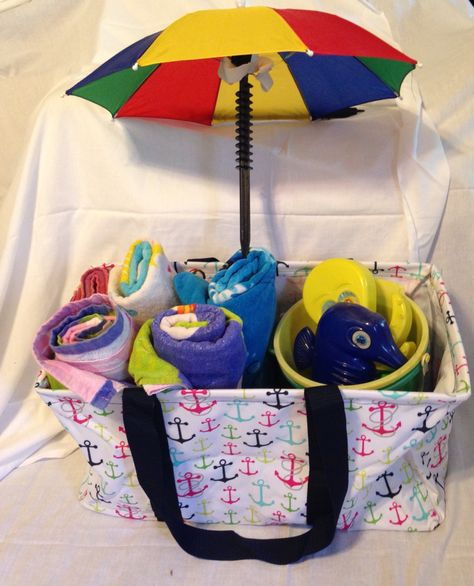 Don't forget your large utility tote to carry your towels and pales in this summer.  www.mythirtyone.com/337587