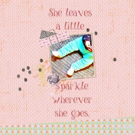 Sparkle, Sparkle, Little Sparkleheart using Here and Now Bundle at www.pixelscrapper.com