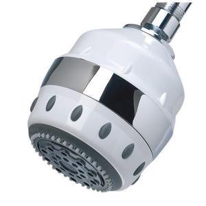 Sprite Showers 5 Spray Filtered Showerhead In White Shower Heads