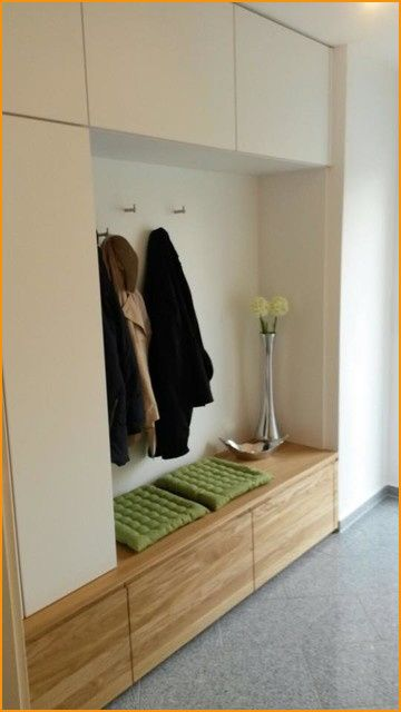Garderobe In Eiche Massiv Und Weiss Matt Modern Flur Muenchen