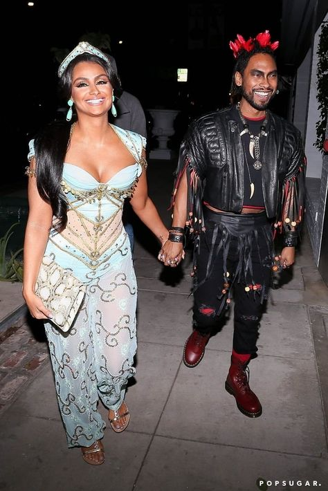 Miguel and Nazanin Mandi as Rufio From Hook and Princess Jasmine