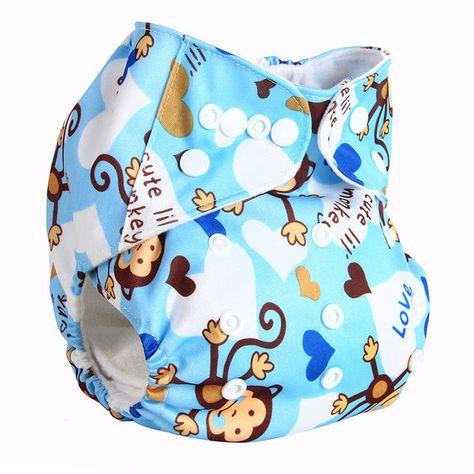 347dda74a Baby Diaper Cover Wrap Cartoon Print Baby Nappy Changing Reusable ...