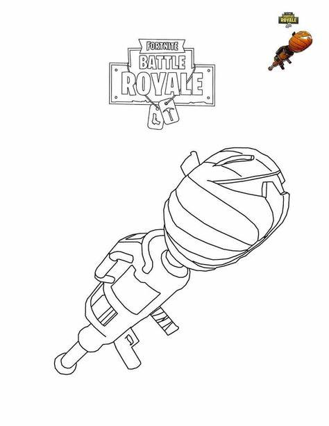 Fortnite Pumpkin Launcher Coloring Page Em 2019 Desenhos