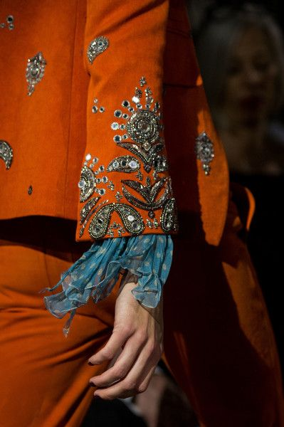 Roberto Cavalli at Milan Fashion Week Spring 2017 - Details Runway Photos