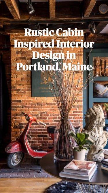 Rustic Cabin Inspired Interior Design at Evangeline Linens in Portland, Maine